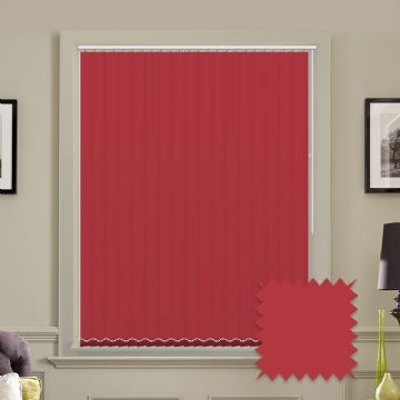 Red vertical blinds - Made to Measure vertical blind in Splash Scarlett